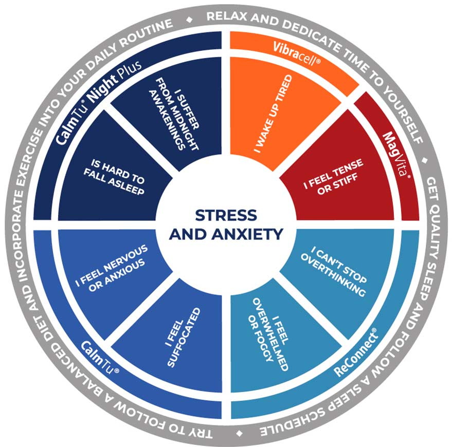 Wheel of stress and anxiety