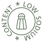 Low sodium content